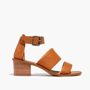 Madewell Warren Leather Sandal Block Heel 9.5